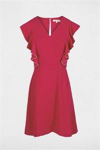 שמלת Ruffle בגזרה ישרה MORGAN בצבע פוקסיה
