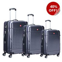 Swiss Travel סט 3 מזוודות קשיחות כחול!