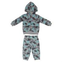 Levis תינוקות// Aop Zip Hoodie Set Grey
