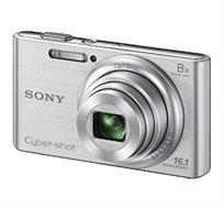 """מצלמת SONY סטילס דיגיטלית קומפקטית מסך LCD בגודל """"2.7 זום אופטי X8 זום דיגיטלי X32 דגם DSC-W830S"""
