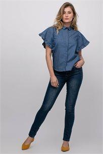חולצת אריג ג'ינס