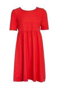 שמלת אריג בייסיק עם כיווצים