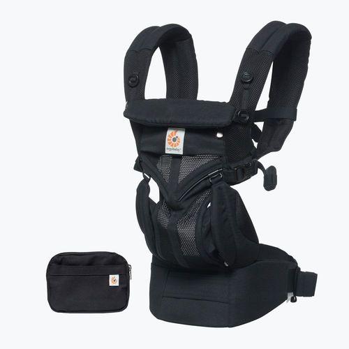 מנשא אוורירי לתינוק הכל באחד מגיל לידה אומני 360 Omni - שחור Onyx Black