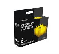 תוספת 6 קוביות מוארות צהובות LIGHT STAX JUNIOR BLOCKS - משלוח חינם!