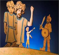 כרטיס להצגה 'דוד וגולית' של תיאטרון אורנה פורת ב-1.12