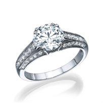 """טבעת יהלומים זהב לבן """"יסמין"""" 2.01 קראט"""