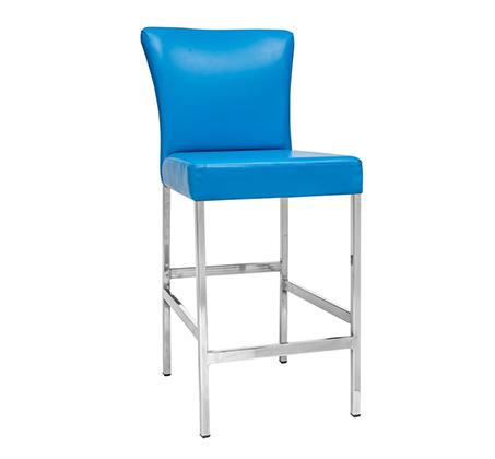 כסא בר למטבח בריפוד סקאי דגם דני במבחר גוונים לבחירה