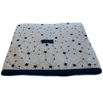 Baby Mitmit שמיכת קיץ ענקית למיטת תינוק סיומת שחורה- Galaxy Collection