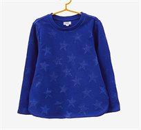סווטשירט OVS לילדים בצבע כחול רויאל עם כוכבים נוצצים