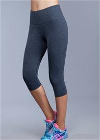 מכנס ספורט באורך הברך צבע אפור, מחטב ואוורירי