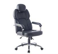 כיסא מנהלים אורטופדי גבוה בריפוד דמוי עור