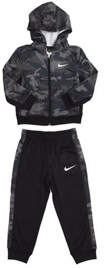 NIKE תינוקות // CAMO AOP FZ THERMA SET ARMY/BLACK