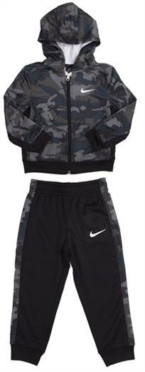 Nike תינוקות // Camo Aop Fz Therma Set Army/Black