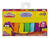 הנאה ביצירה! Play-Doh מארז בצק ענקי עם 16 צבעים שונים מבית HASBRO