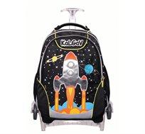 תיק אורטופדי לבית ספר  X BAG TROLLEY בדגם חלל - KAL GAV