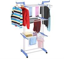 מתקן מתקפל לייבוש הכביסה רב זרועות ומדפים
