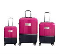 סט מזוודות 3 גדלים TOMMY HILFIGER במגוון צבעים לבחירה