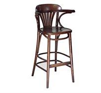 כסא בר מעץ צבע שחור לשימוש בכל חדרי הבית דגם מניפה