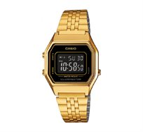 שעון יד דיגיטלי רטרו - זהב