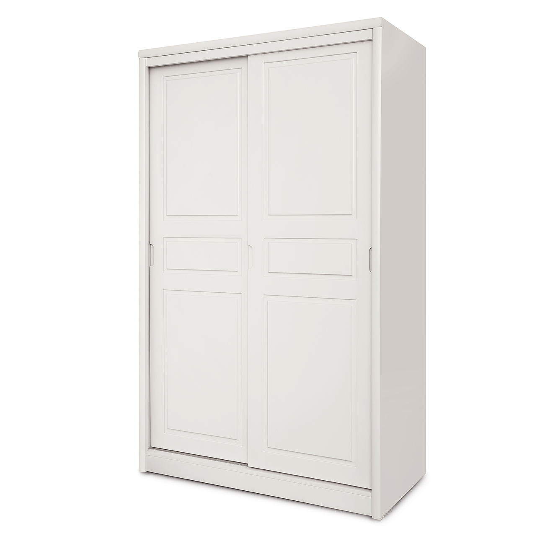 ארון בגדים בעל 2 דלתות הזזה נוחות דגם יהלי בצבעים לבחירה HIGHWOOD - תמונה 2