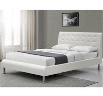 מיטה זוגית מעוצבת HOME DECOR בריפוד דמוי עור דגם ERICA