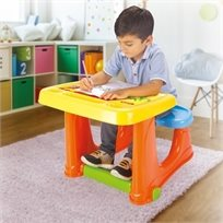 שולחן ציור ויצירה וספסל ישיבה