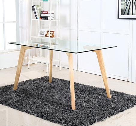 שולחן אוכל מזכוכית מחוסמת BRADEX דגם AMERLY