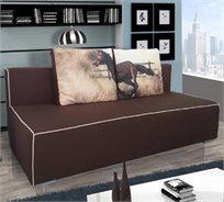 ספת אירוח מעוצבת הנפתחת למיטה זוגית עם ארגז מצעים  - דגם סוס דוהר HOME DECOR
