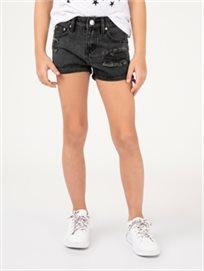 מכנסי גינס שחורים קצרים