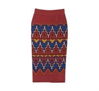 חצאית לנשים Desigual דגם Tacna בצבע חום/כחול