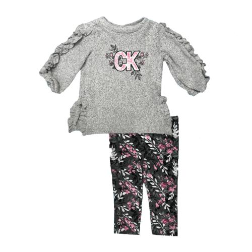 Calvin Klein חליפה שרוול מכווץ (7-4 שנים) - אפור