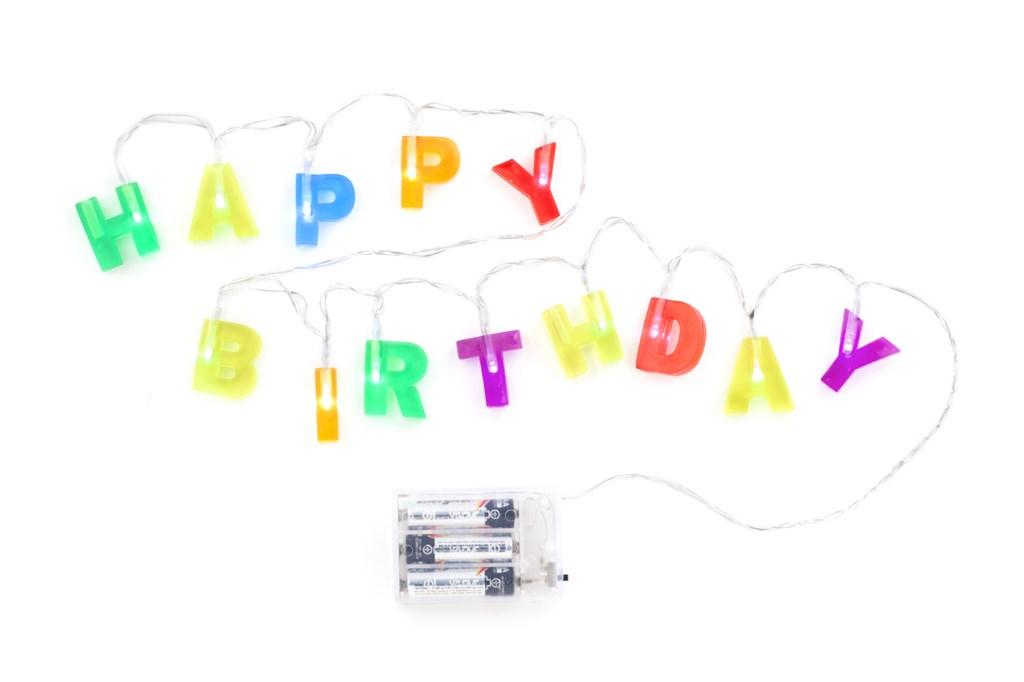 Kikerland// שרשרת אורות Happy Birthday