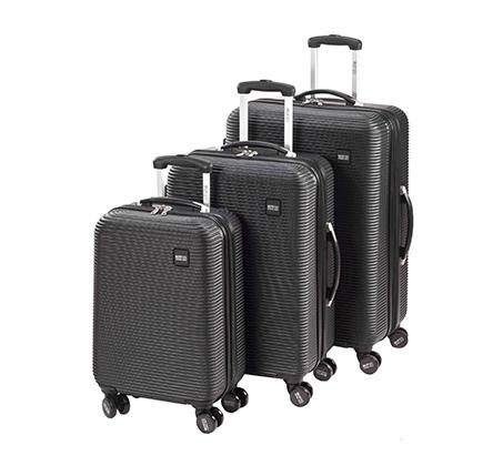 סט מזוודות קשיחות - שחור