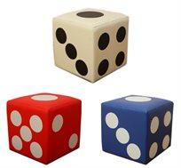 הדום מעוצב כקוביית משחק לחדרי ילדים לשימוש כמושב יחיד או כהדום רגיל לרגלי הילד