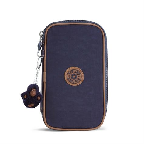 50 Pens קלמר קשיח - Blue Tan Blockכחול כהה משולב