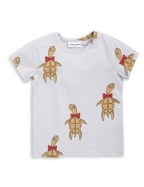 MINI RODINI// Turtle ss tee grey