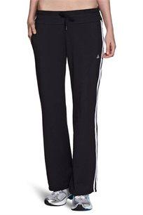 מכנסי ספורט Adidas לאישה בצבע שחור עם פסים לבנים