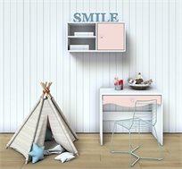 סט שולחן וכוורת ללימודים או לאיפור דגם LOVE במגוון צבעים לבחירה