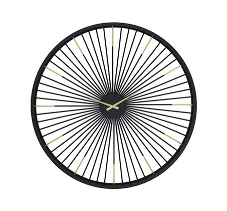 שעון קיר ענק ממתכת דגם חישוק
