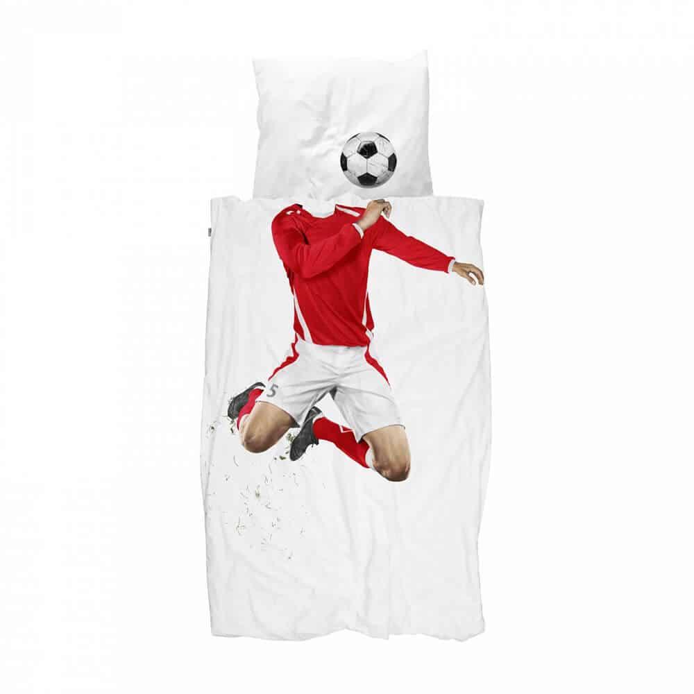 Snurk סט מצעים לילדים Soccer Champ Red