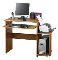 שולחן מחשב דגם ענבר, שימושי במיוחד, עם מגירת מקלדת ומעמד למחשב ומדפסת מבית רהיטי יראון
