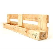אדנית כפולה עשויה עץ מלא