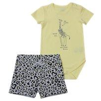 Minene חליפת בגד גוף (6-24 חודשים) - ג'ירפה צהוב