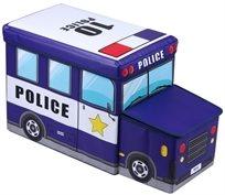 ארגז מעוצב לאיחסון צעצועים בצורת מכונית משטרה