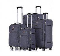 סט 4 מזוודות טרולי מבד וקלות משקל דגם Zurich