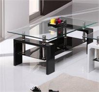 שולחן סלוני מורכב משילוב חומרים מודרני בין זכוכיות דגם MILANO מבית GAROX  - משלוח חינם