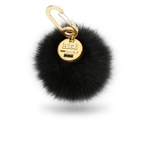 Buqu// Power Poof- Purse Charm Power Bank Black מטען נייד