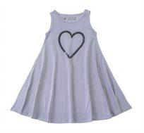 שמלה מסתובבת בלי לב פייטים - אפור