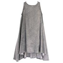 שמלה No Biggie לילדות (2-12 שנים) אפור בהיר