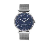 שעון יד אנלוגי לגבר עשוי פלדת אל חלד ועמיד במים עם תצוגה מלאה TIMEX